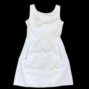 TRACY REESE**White Pleather Dress**Small $795